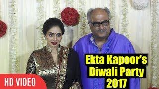 Sri Devi And Boney Kapoor At Ekta Kapoor