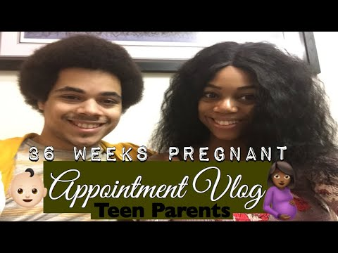 Vlog//TEEN PARENTS 36 WEEK UPDATE APPOINTMENT + BELLY SHOT