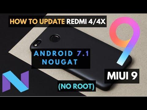 How to Update Xiaomi  Redmi 4/4x to MIUI 9 (Global/China beta, Nougat) - No Root