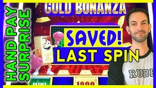 SAVED on Last Spin + HAND PAY Surprise 😮 in HIGH LIMIT! 🎰