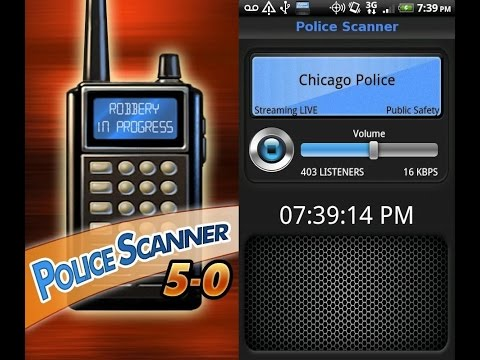 5-0 Radio Police Scanner . Android and iOS a free App. A mini review