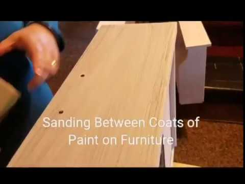 Sanding Between Coats of Paint on Refurbished Furniture