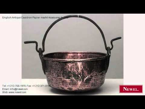 English Antique Cauldron Papier-maché Accessories for Sale