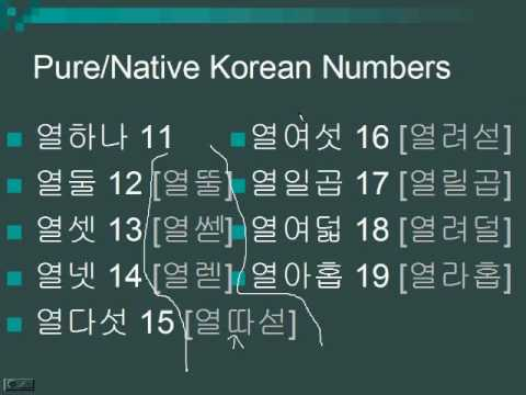 Lesson 23 - Counting in Korean (Native/Pure Korean Numbers)