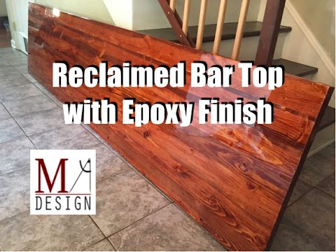 Reclaimed Bar Top with Epoxy Finish