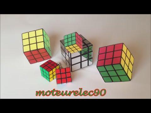 Optical illusion. Rubik's cube. Magic ! Easy experience !