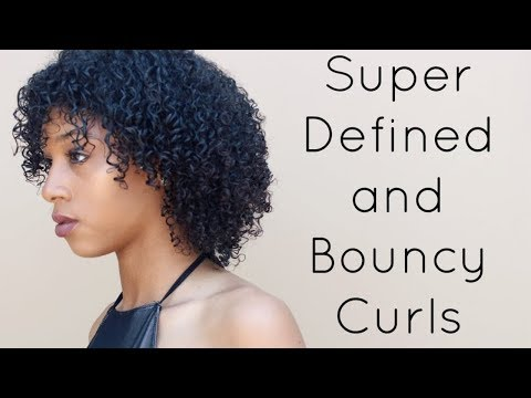 Super Defined and Moisturized Curls   Natural Curly Hair Routine