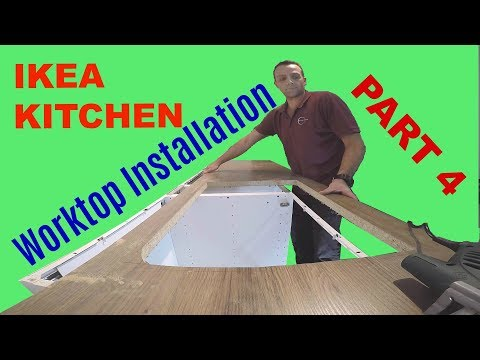 IKEA Kitchen part 4 LAMINATE Ikea Worktop cutting with Inset SINK and HOB
