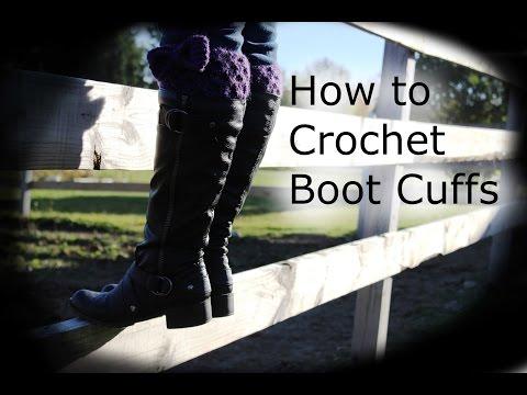 How to Crochet Boot Cuffs [1080p] (HD)