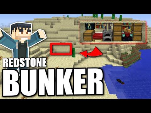 Minecraft PS4 -  HIDDEN REDSTONE BUNKER - Tutorial ( PS3 / XBOX / WII U / PE )