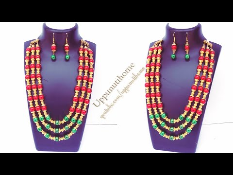 How To Make Beautiful Beads Necklace At Home | DIY | Jewelry Making | Bridal Necklace | Uppunutihome