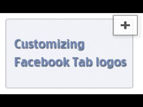 How do I change the Facebook tab logos for a Facebook Page app