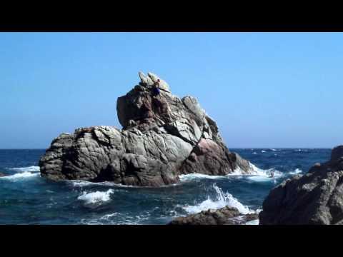 Lloret de Mar (Spain) Jump from the rock...part 2