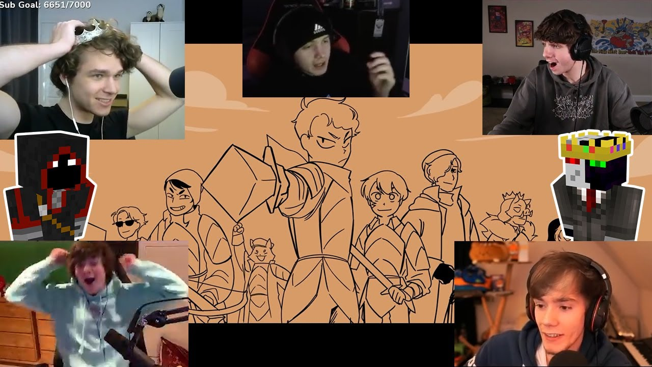 """Dream SMP Members React to """"Dawn of 16th"""" by SAD-ist"""