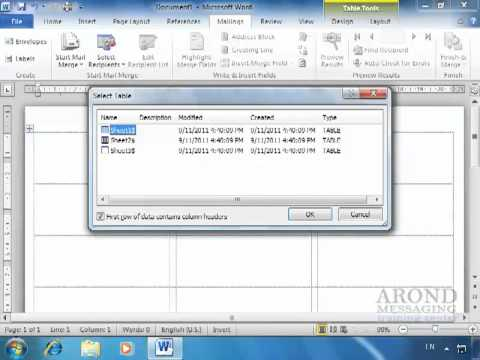 Using Word 2010 - Create Labels for a Mass Mailing