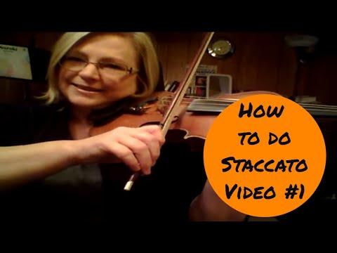 How to do Staccato #1 - Violin Technique