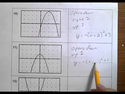 Algebra 1 (Topic 8-7) Graphing y = (x +- h)2 +- k