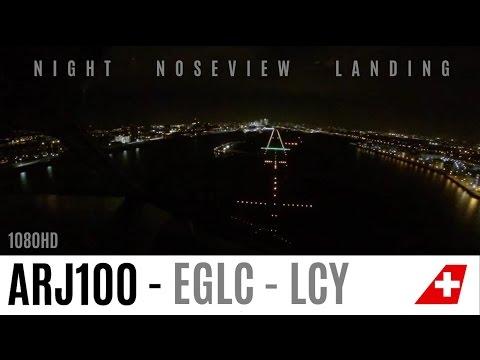 FANTASTIC Cockpit Landing at London City by Night !
