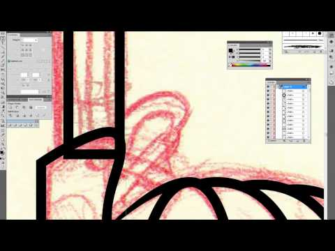 Inking and coloring in Adobe Illustrator CS5 (Mad TV)