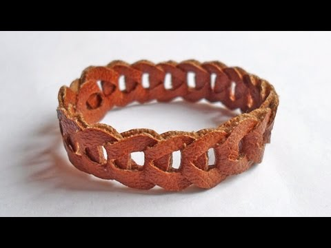 How To Make a Chain Leather Bracelet - DIY Style Tutorial - Guidecentral