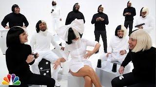 "Jimmy Fallon, Sia, Natalie Portman & The Roots Sing ""Iko Iko"""