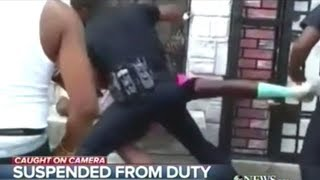 Caught On Video! Baltimore Cop Beats The Crap Out Of Unarmed Black Man!