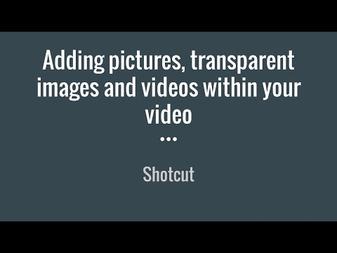 Shotcut Tutorial 3: Adding Pictures, Transparent Images, and Videos within Your Video