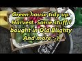 Green house tidy up  Harvest  Some stuff I bought in Old Blighty and more 07 06 18