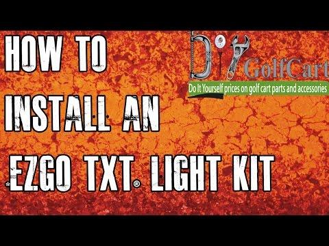EZGO TXT Headlight and Tail Light Kit | How to Install Video | Golf Cart Light Kit
