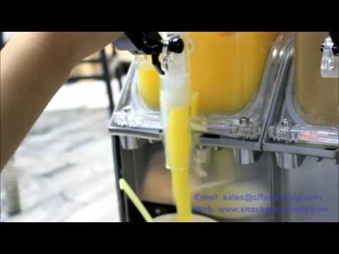 I make slush with the Ice Puppy slush machine