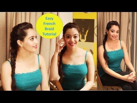 Easy French Braid Tutorial (Hindi)