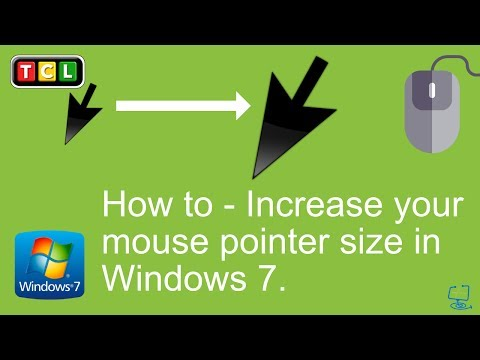 Windows 7 - Increase mouse pointer size