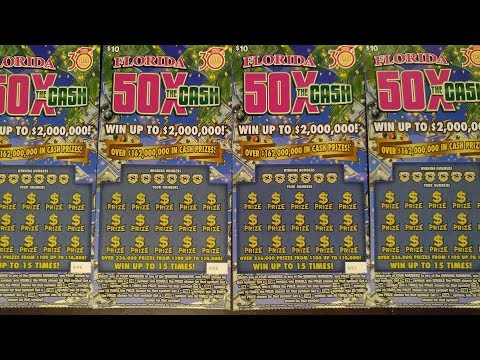 Florida Lottery $40 Session Scratch Offs $2,000,000 Top Prize 4 $10 Tickets Scratched 2 Winners