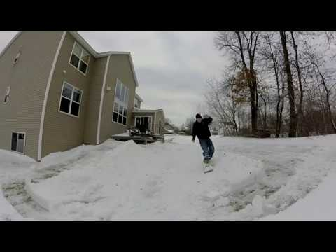 Backyard Snowboard Halfpipe Project [Learning to Snowboard] Maybe To Many Memes