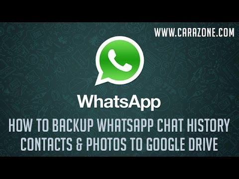 How to Backup WhatsApp Chat History Contacts  Photos to Google Drive