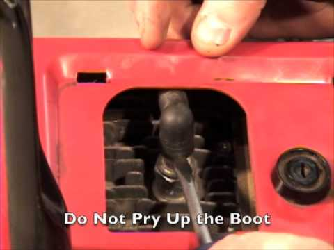 Spark plug replacement in your single stage snow blower