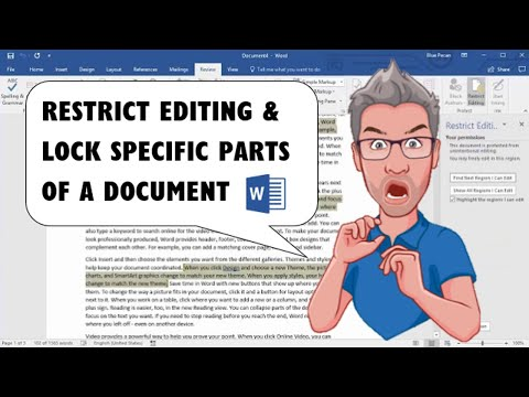 Restrict Editing to Specific Parts and Lock Parts of a Microsoft Word Document