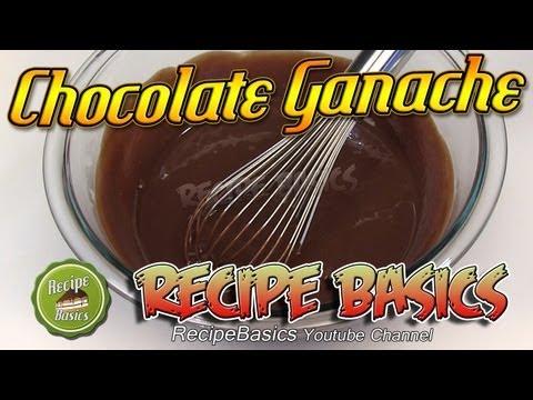 Easy Chocolate Ganache Recipe ! Chocolate & Heavy Cream !