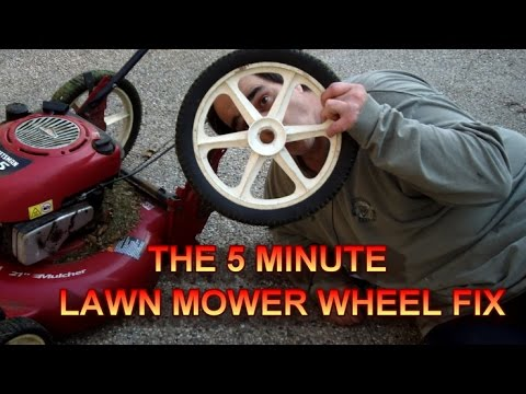 How to fix a Craftsman Rear Wheel lawn mower tire in 5 Minutes or less!