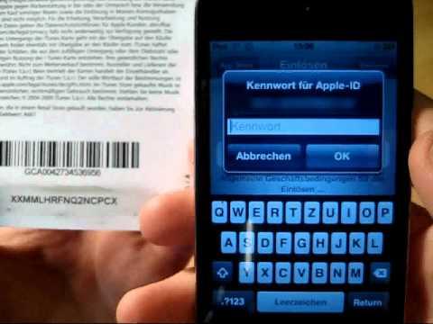 iR: iTunes Karten einlösen
