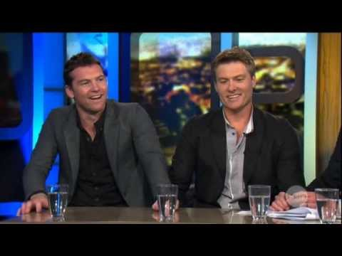 Sam Worthington & Myles Pollard interview on The Project (2013) - Drift