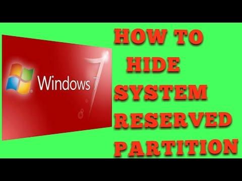 how to hide system reserved drive in window 7 Ultimate Latest Tutorial Youtube