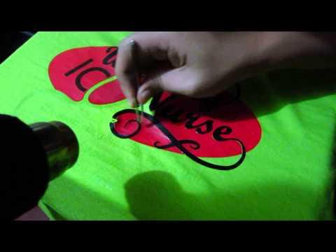 How to remove vinyl transfer print on shirt