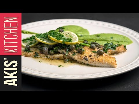 Sole Meuniere with mashed peas  | Akis Kitchen