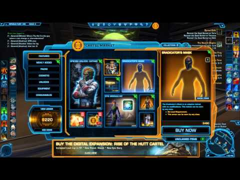 Star Wars The Old Republic Dye Modules and Update 2.1 Review and walkthrough!