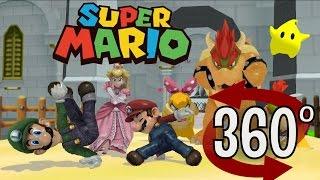 Super Mario Bros (360 VIDEO) BREAK DANCING - 3D VR ANIMATION