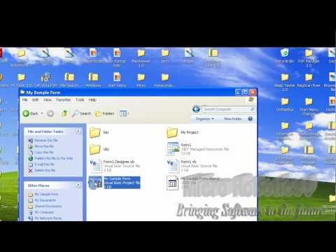 How to Create, Save, and Open a project in Visual Basic 2008
