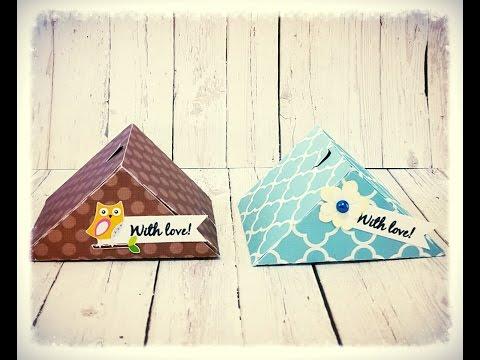 Triangle Treat Box with Tear Off Strip