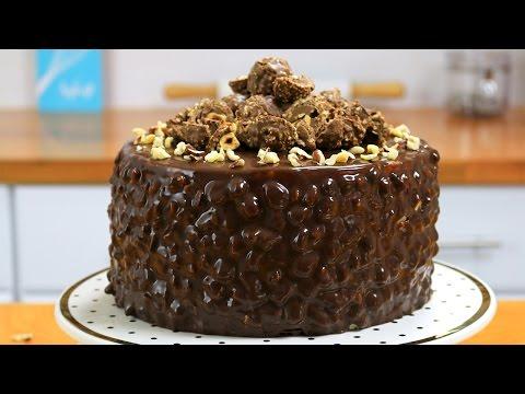 Ferrero Rocher Cake (Chocolate Hazelnut Cake) - It's Raining Flour 115