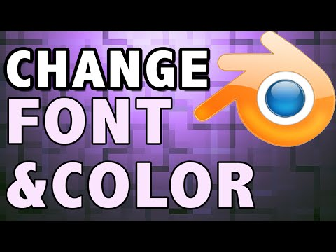 How To Change the Color And Font Of Blender Intro Template